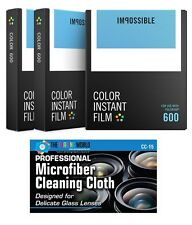 Impossible PRD4514 Color Instant Film for Polaroid 600-Type Camera - 3 Pack