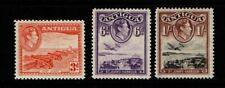 Antigua 1938 1951 King George VI 3d, 6d, 1/- SG103-05 MNH