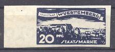 Wuerttemberg, 1920 , Proof 20 Pf., Michel 274 PU 1, MNH,