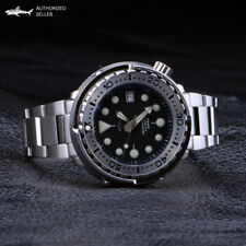 Heimdallr Tuna Can Homage Dive Watch Steel Bezel Insert 47 mm bracelet black