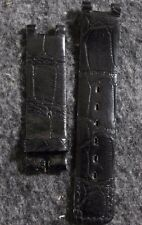 Vintage Jaeger-LeCoultre Genuine Crocodile Veritable Black 16mm Watch Band JL22