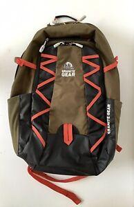 "Granite Gear Manitou Laptop Backpack-Highland Peat/Black/Ember Orange - 17"""