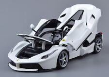Bburago 1:18 Ferrari Laferrari Diecast Metal Model Roadster Car White New in box