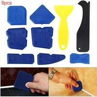 9pcs Silicone Sealant Spreader Profile Applicator Tile Grout Tools New