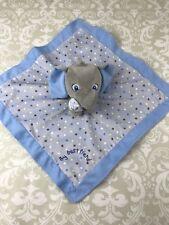Garanimals Elephant Lovey Security Blanket My Best Friend Blue Satin Back Nunu