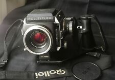 Rollei Rolleiflex sl66 great shape with 80 mm f 2,8 HFT pistol grip and strap