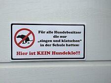 Aufkleber Schild kein Hundeklo Hund Hundekot Singen und Klatschen