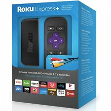 New Roku Express + Plus Digital HD Media Streamer 3710RW HDMI cable Smart TV NIB