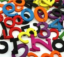 Wooden Coloured Numbers 100 Pack Mixed Card Making Alphabet Childs Craft