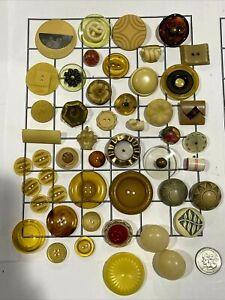 Vintage Varity Bakelite & Celluloid Button Lot  Apple Juice ~ Creams