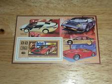 Congo #920 MNH Exotic Sports Car Souvenir Sheet