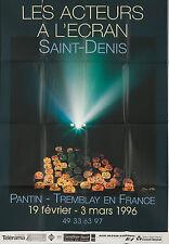 Original Vintage Poster Les Acteurs a l'Ecran Film Movie French Awards Cinema 96