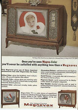 POST CARD OF A MAGAZINE ADVERTISEMENT MAGNA-COLOR IN MAGNAVOX TELEVISIONS