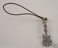 Guitar rocker cell phone or purse charm clear Crystal