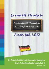 Lernheft Grundschule und Lernsoftware Deutsch Stufe A ? Rechtschreibregeln 2