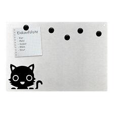 Magnetpinnwand Wandtafel Katze Cat Tier Pet Animal Lachen Edelstahl magnetisch