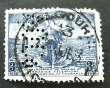 Australia-1936-3d Blue Submarine Cable issue-Used