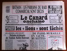 Le Canard Enchaîné 20/9/1989; Des ministres dans le complot contre Hersant