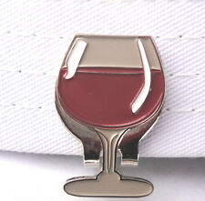 Wine Glass Golf Ball Marker - W/Bonus Magnetic Hat Clip