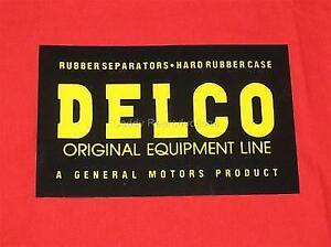 1951 - 1966 Cadillac Delco Battery Decal