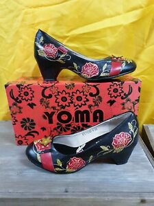 Yoma Julissa Ladies leather Shoes. Slip on with contoured heel. SZ 36 new boxed