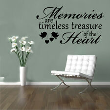 Memories Heart Birds Quote Wall Stickers Art Room Removable Decals DIY