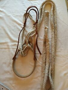 Western Leather Tory Headstall With Bosal And Cotton Mecate Reins