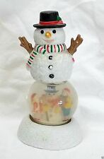 Dept 56 Snowman Figural Snow Globe Snowdome Christmas Holiday Vintage Snowglobe