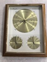 Vintage Airguide Barometer, Temperature, Humidity, Weather Station, Wood Frame