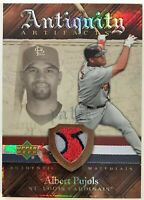 ALBERT PUJOLS 2007 ANTIQUITY AUTHENTIC MATERIALS 3 COLOR GAME USED PATCH 22 / 50