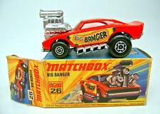 MATCHBOX SUPERFAST nº 26b Big Banger rouge orange vitres Top Dans Box