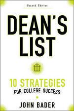 Dean's List by John Bader; NEW; Paperback; 9781421422374