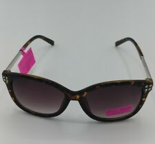 29a55adab86e Betsey Johnson Tortoise Sunglasses Rhinestone Arms BJ873145 100% UV Protect  NEW!