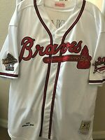 Mitchell & Ness Cooperstown Chipper Jones Atlanta Braves Jersey Size 52