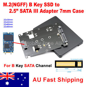 """NGFF (B Key) M.2 SSD to SATA Adapter 2.5"""" SATA 7mm HDD Enclosure Converter Case"""