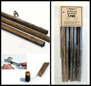 """1/2"""" x 12"""" LOGS, REAL WOOD, great DETAIL and COLOR, HO/N/O/S, qty=6,  FREE SHIP"""