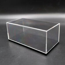 Acrylic Display Case Model Cars Show Box Transparent Dust Proof Black Base 1/43