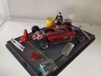 #338 Diorama Fabbrica Ferrari 125 S Gilles Villeneuve - BRUMM 1:43
