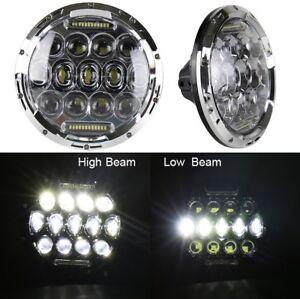 PAIR CHROME Military HUMVEE LED HEADLIGHT 24 volt  truck m998 HUMMER H1