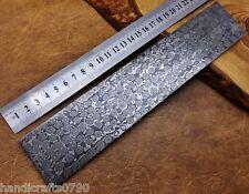 TITANI 25x4 cm Premium Acciaio Damasco Billet BAR BUSH artigianato delle gocce di pioggia 9751