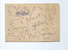 Disegno Autografo Pittore Silvio Loffredo Zinal ad Accademia Belle Arti Firenze