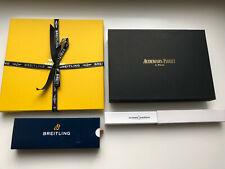 Breitling silk scarf Audemars Piguet leather pouch Ulysse Nardin watch pen