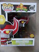 "Funko Pop! 6"" MEGAZORD 497 GITD Mighty Morphin Power Rangers MMPR TV"
