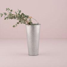 12 Small Galvanized Metal Flower Buckets Vases Wedding Decorations Centerpieces