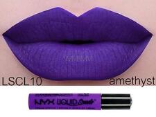 NYX Liquid Suede Cream Lipstick 'AMETHYST' LSCL10 Purple New Sealed Authentic