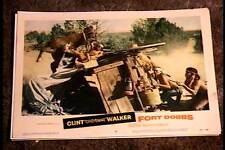 FORT DOBBS 1958 LOBBY CARD #6 NATIVE AMERICAN INDIAN WESTERN