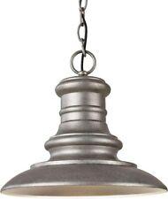 Feiss OL8904TRD Redding Station Outdoor Lighting Pendant Lantern, Satin Nickel