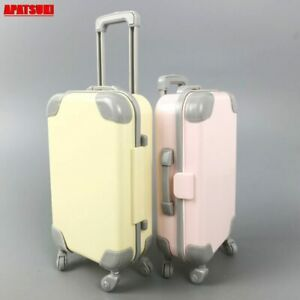 """Doll Furniture Plastic Travel Suitcase Trunk Case Luggage For 11.5"""" Doll 1/6 BJD"""