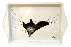 Dubout Cats Big Sleep Black Cat Metal Scatter Tray Serving Platter (Gros Dodo)