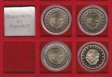 N° 4 MONETE da 2 EURO - MONACO - ANNI 2001 2002 2003 2004